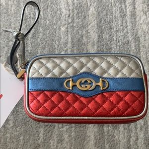 NIB Gucci trapuntata leather wristlet
